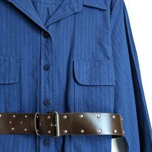 Button up shirt tunic